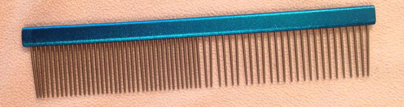 Steel-toothed comb