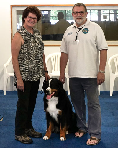 Eileen, Teddy with Mr. Kramer, the TDI evaluator.