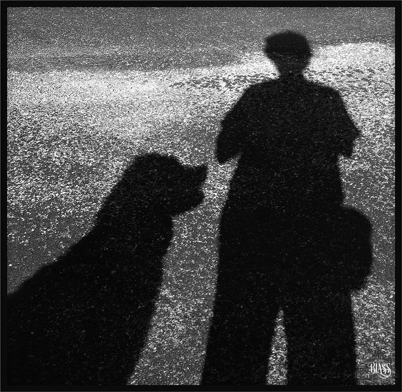 Teddy and Eileen selfie. ©2014 Eileen Blass